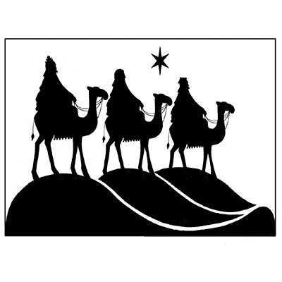 Lavinia Stamps - Clearstamp - Three Kings - LAV076