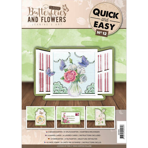 Card Deco - Quick and Easy 12 - Jeanine`s Art - Butterflies and Flowers - QAE10012