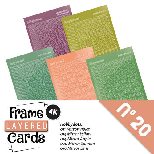 Hobbyjournaal - Stickerset - Frame Layered Cards - No. 20 - LCST020