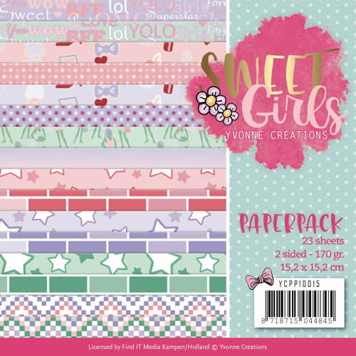 Yvonne Creations - Paperpack -  Sweet Girls - YCPP10015
