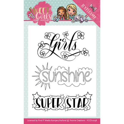 Yvonne Creations - Clearstamp - Sweet Girls - YCCS10038