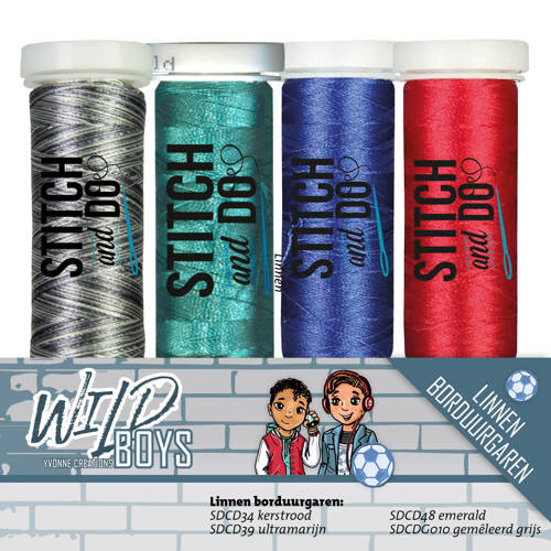 Stitch and Do - Borduurgaren - Sets - Yvonne Creations - Wild Boys - YCGS10004