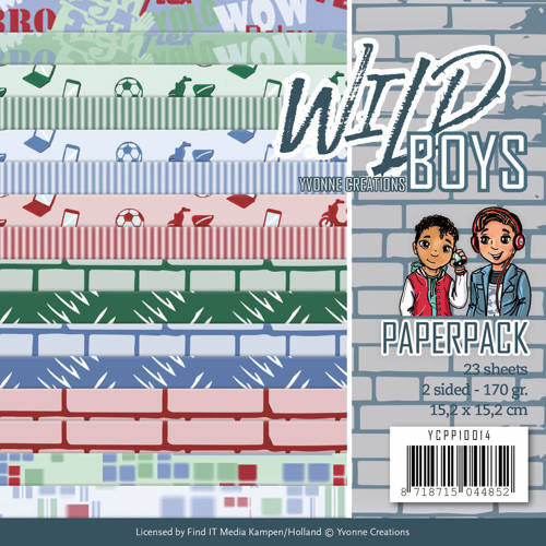 Yvonne Creations - Paperpack - Wild Boys - YCPP10014