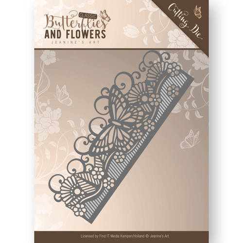 Jeanine`s Art - Die - Classic Butterflies and Flowers - Butterfly Border - JAD10021