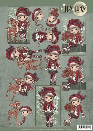 Lilly Luna - 3D-knipvel A4 - Christmas Wishes - CD11004