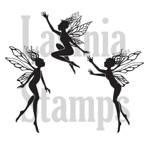 Lavinia Stamps - Clearstamp - Three Dancing Fairies - LAV136a