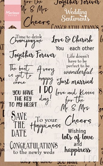 Marianne Design - Clearstamp - Weddingsentiments (UK) - CS0999