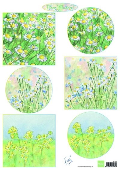 Marianne Design - Tiny`s - 3D-knipvel A4 - Flower Meadow - IT601
