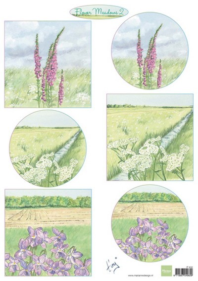 Marianne Design - Tiny`s - 3D-knipvel A4 - Flower Meadow 2 - IT602