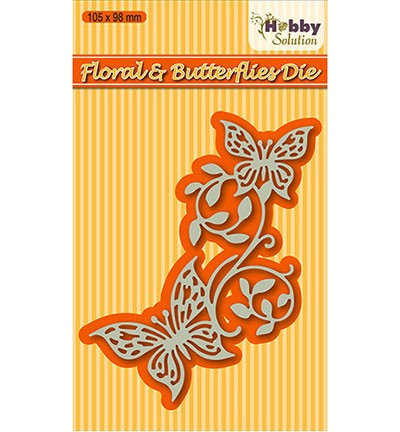 Nellie Snellen - Die - Hobby Solution - Floral & Butterfly - HSDJ003
