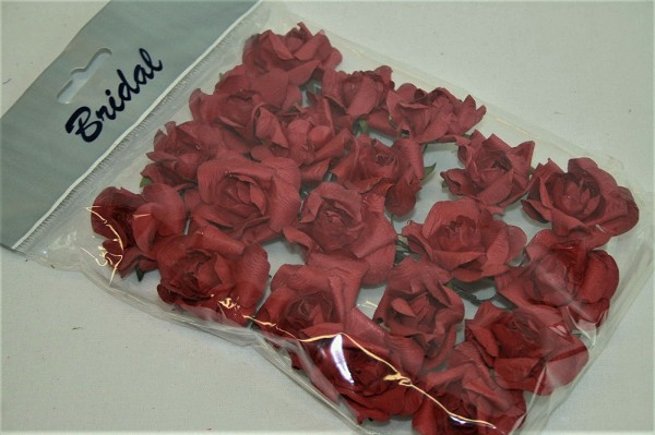 Crafts-Too - Bloemen - Bridal - Paper Rose Heads: Red - 81963RE