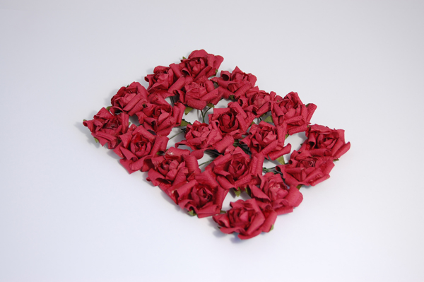 Crafts-Too - Bloemen - Bridal - Paper Rose Heads: Burgundy - 81963BU