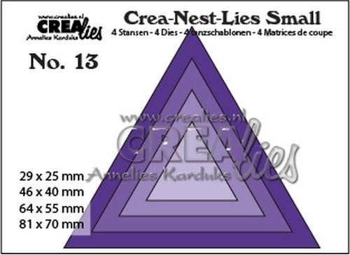 Crealies - Die - Crea-Nest-Lies Small - Driehoeken - CNLS13