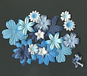 Find It - Flowers and Brads: Blauw - FAB621
