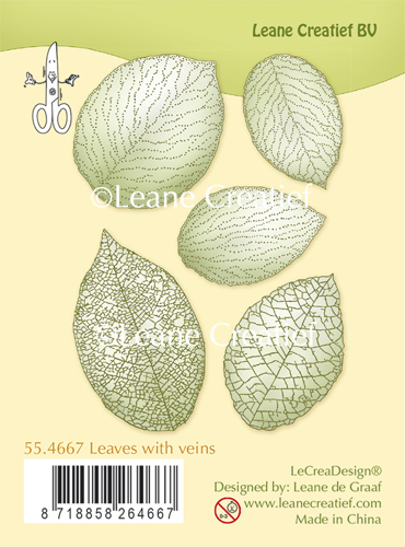 Leane Creatief - Clearstamp - Leaves with veins - 55.4667