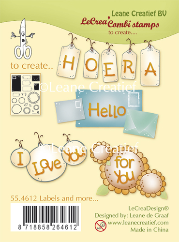 Leane Creatief - Clearstamp - Labels and more - 55.4612