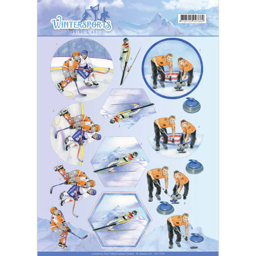 Jeanine`s Art - 3D-knipvel A4 - Wintersports - Ice Hockey - CD11029
