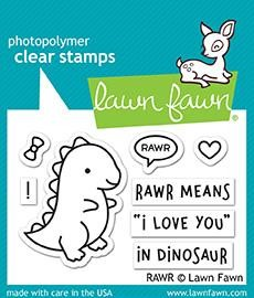 Lawn Fawn - Clearstamps - Rawr - LF1555