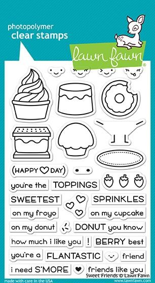 Lawn Fawn - Clearstamps - Sweet Friends - LF1551