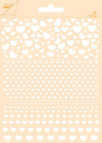 Joy! crafts - Maskingstencil - Hartjes - 6002/0852