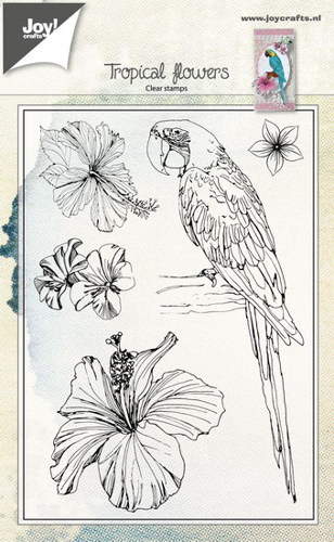 Joy! crafts - Clearstamp - Tropical Flowers - 6410/0459