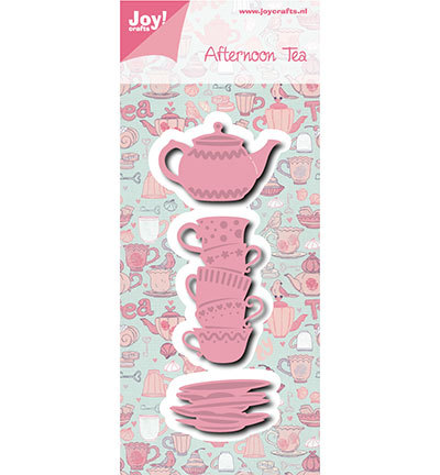 Joy! crafts - Noor! Design - Die - Afternoon tea - Kopjes en theepot - 6002/0976