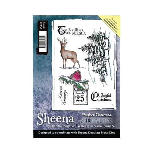 Sheena Douglass - Cling Stamp - Scenic Winter - Wishes of the season - SD-PPS-WOTS