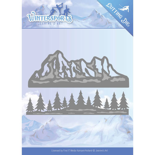 Jeanine`s Art - Die - Wintersports - Mountain Border - JAD10029
