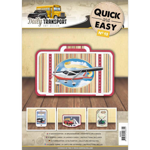Card Deco - Quick and Easy 13 - Amy Design - Daily Transport - QAE10013