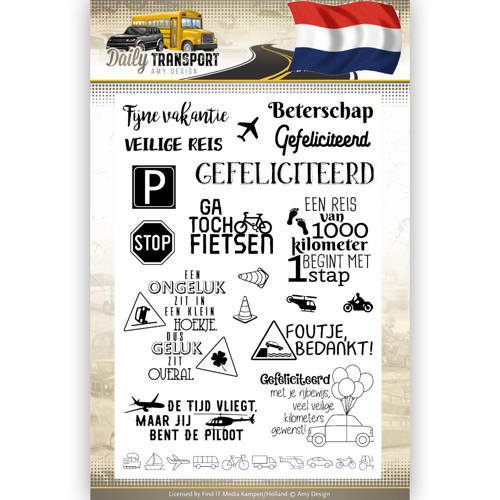 Amy Design - Clearstamp - Daily Transport - Tekst (NL) - ADCS10036