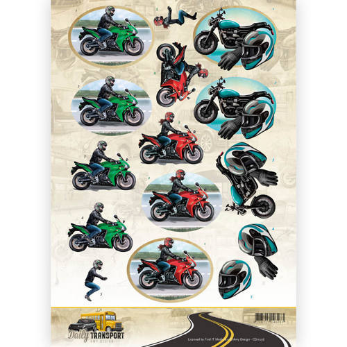 Amy Design - 3D-knipvel A4 - Daily Transport - Motorcycling - CD11036