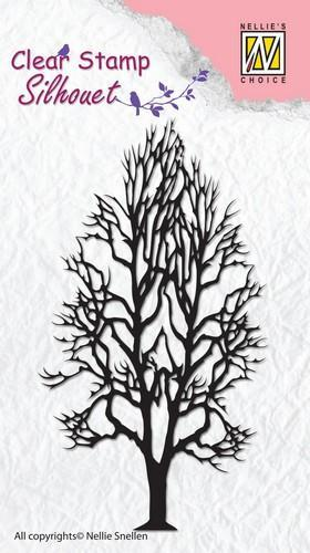 Nellie Snellen - Clearstamp - Silhouet - Tree-2 - SIL008