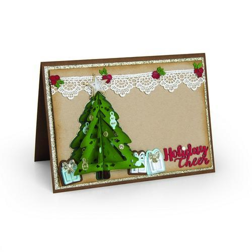 Sizzix - Die - Thinlits - Christmas Tree - Flip & Fold - 662281