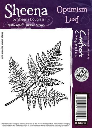 Sheena Douglass - Cling Stamp - Optimism Leaf - SD-OLEAF-IS