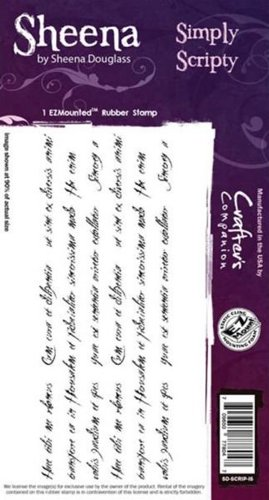 Sheena Douglass - Cling Stamp - Simply Scripty - SD-SCRIP-IS