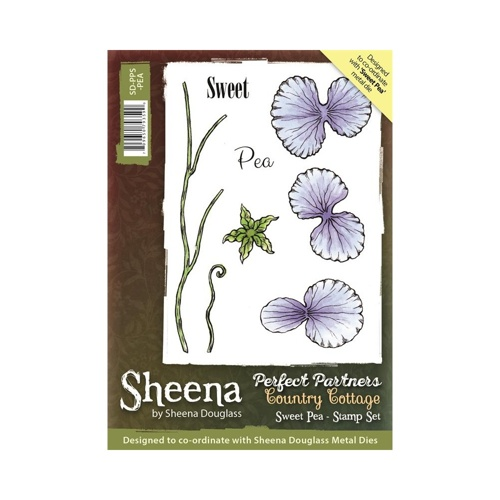 Sheena Douglass - Cling Stamp - Country Cottage - Sweet Pea - SD-PPS-PEA