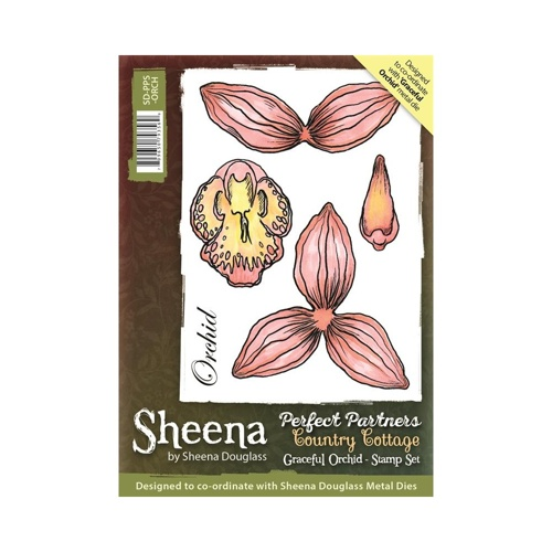 Sheena Douglass - Cling Stamp - Country Cottage - Graceful Orchid - SD-PPS-ORCH