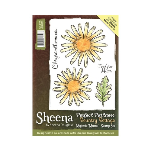 Sheena Douglass - Cling Stamp - Country Cottage - Majestic Mums - SD-PPS-MUMS