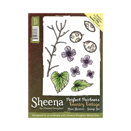 Sheena Douglass - Cling Stamp - Country Cottage - Plain Honesty - SD-PPS-HSTY