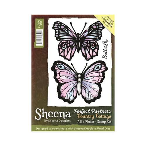 Sheena Douglass - Cling Stamp - Country Cottage - All a Flutter - SD-PPS-FLUT