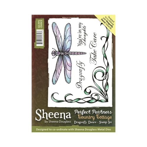 Sheena Douglass - Cling Stamp - Country Cottage - Dragonfly Dance - SD-PPS-DANCE