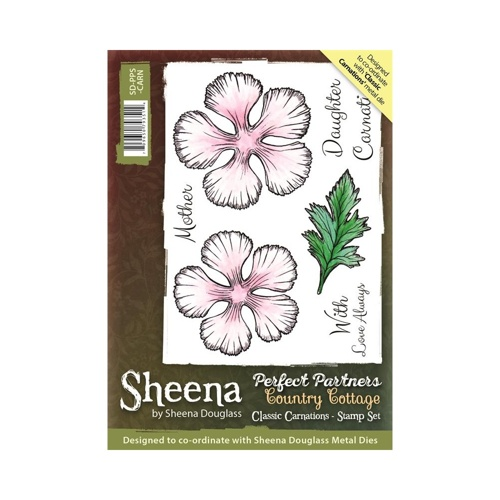 Sheena Douglass - Cling Stamp - Country Cottage - Classic Carnations - SD-PPS-CARN