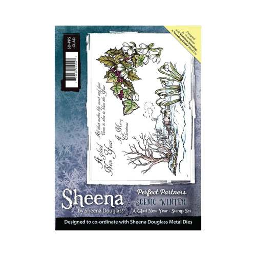 Sheena Douglass - Cling Stamp - Scenic Winter - A Glad New Year - SD-PPS-GLAD