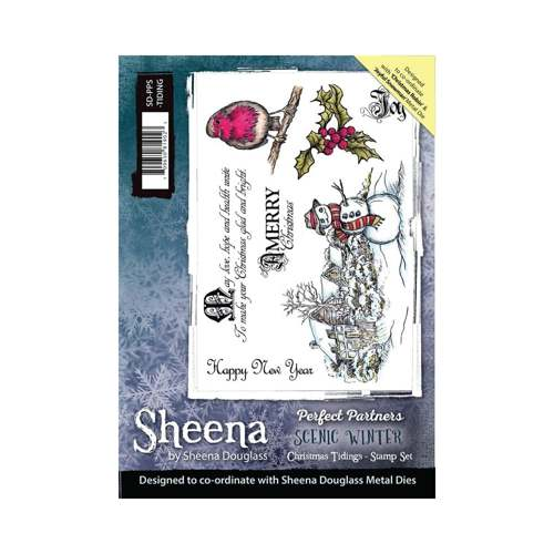 Sheena Douglass - Cling Stamp - Scenic Winter - Christmas Tiding - SD-PPS-TIDING