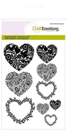 CraftEmotions - Clearstamp - Hearts - 130501/1273