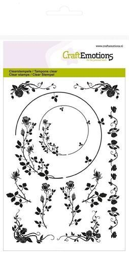 CraftEmotions - Clearstamp - Ornaments border rose - 130501/1274