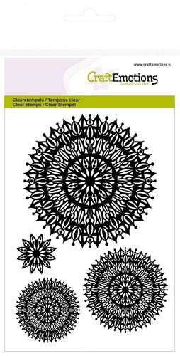CraftEmotions - Clearstamp - Mandala flower - 130501/1276