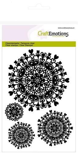 CraftEmotions - Clearstamp - Mandala heart - 130501/1277