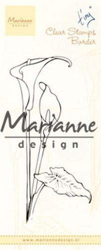 Marianne Design - Tiny`s - Clearstamp - Border callas - TC0864