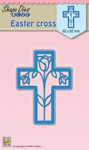 Nellie Snellen - Shape Die - Blue - Cross - Easter - SDB014